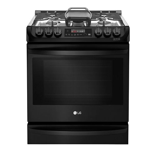 6.3 cu. ft. Smart Gas Slide-In Range with ProBake Convection and EasyClean® in Matte Black Stainless Steel