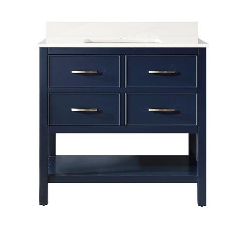 Brookbank 36-inches Vanity Navy Blue