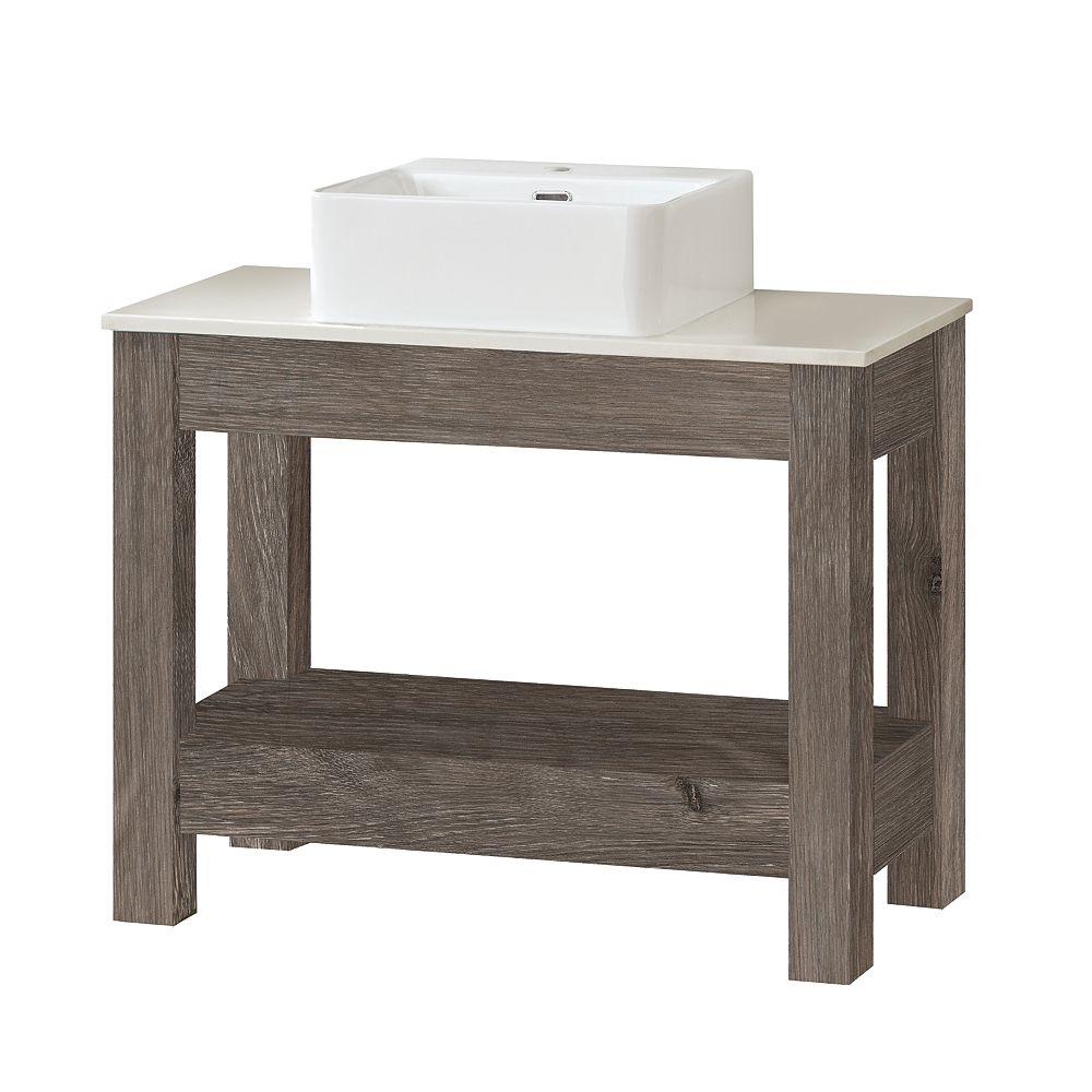 Home Decorators Collection Poppydale Meuble-lavabo gris 36 pouces
