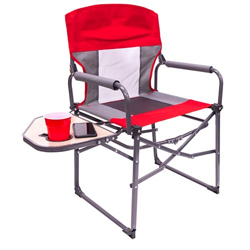 Collapse N' Carry Director Chair, Red/White