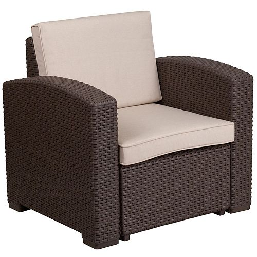 Chocolate Rattan Outdoor Chair