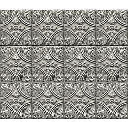Silver Tin Tile Peel & Stick Backsplash