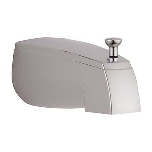 Delta 5 inch Bathtub Spout With Top Diverter In Chrome, 1/2 inch Cwt Or Ips
