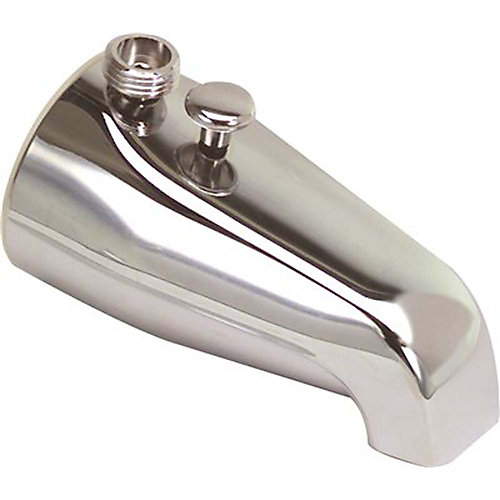 3/4 inch Ips Bathtub Spout With Top Shower Diverter In Chrome