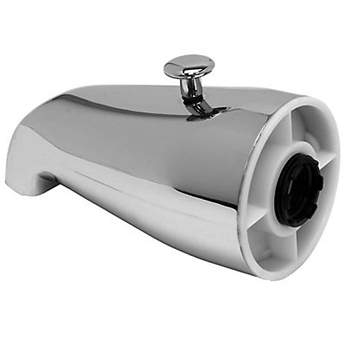 3/4 In Ips Bathtub Spout With Top Diverter In Chrome