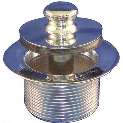 Push Pull Bathtub Stopper, 1.865 inch Od, 11.5 Tpi, 1.25 In Depth, 2.11 inch Od 16 Tpi Chrome-Plated