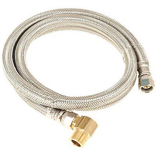 - Connecteur Tressé En Acier Inoxydable Pour Lave-Vaisselle, Compression 3/8 Po X Compression 3/8 Po