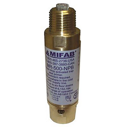 Mifab M-500 Pressure Drop Activated Trap Seal Primer For Up To 3 Floor Drain Traps, 1/2 inch Connections