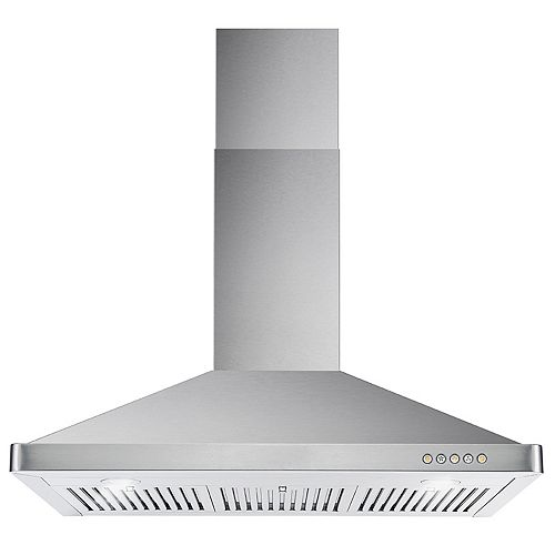 Cosmo 36 in. Ducted Wall Mount Range Hood in Stainless Steel with LED Lighting and Permanent Filters