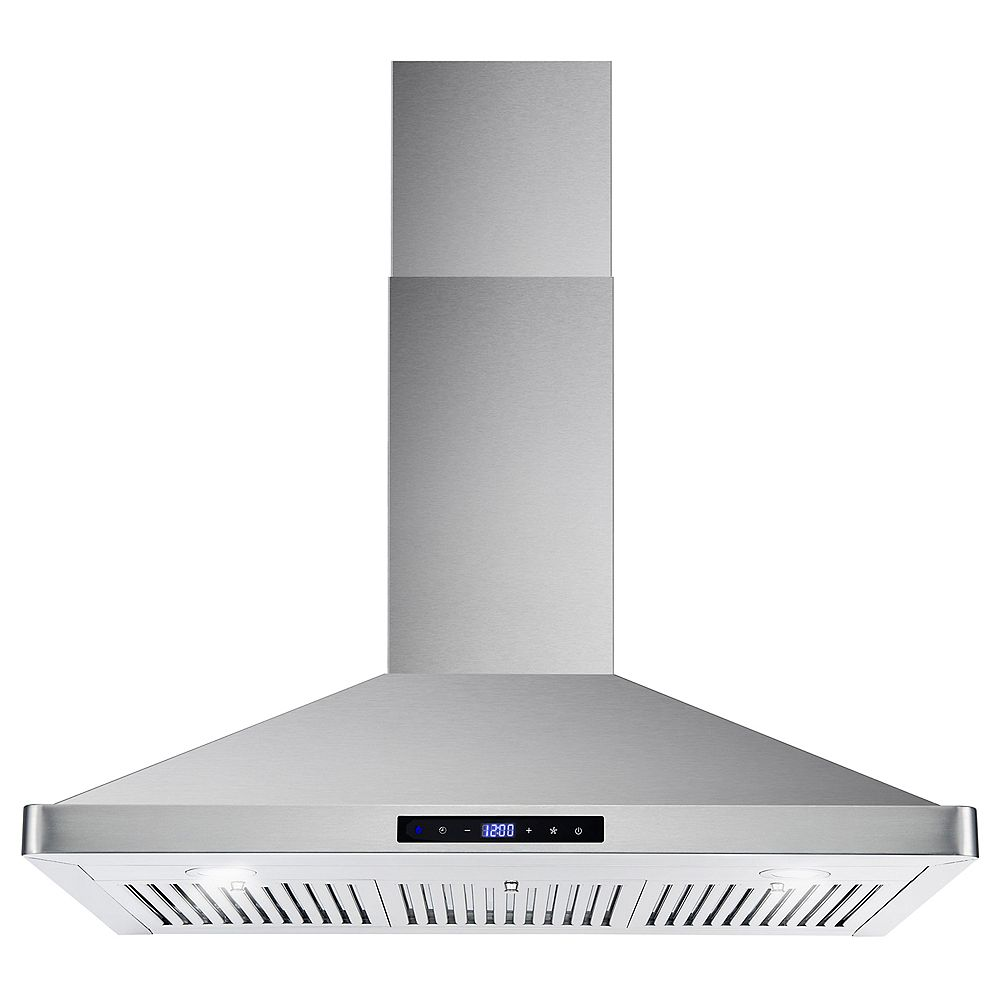Cosmo 36 in. Ducted Wall Mount Range Hood in Stainless Steel with Touch Controls