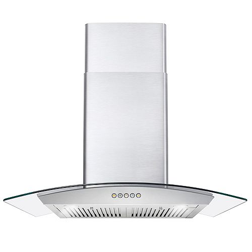 Cosmo 30 in. Ducted Wall Mount Range Hood in Stainless Steel with LED Lighting and Permanent Filters