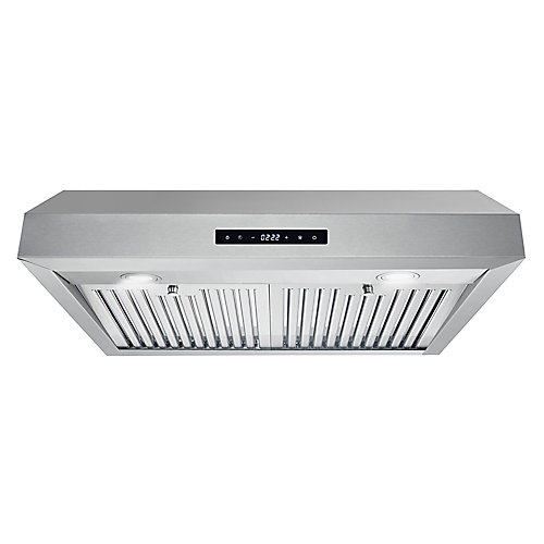 30 in. Ducted Under Cabinet Range Hood in Stainless Steel with Touch Display