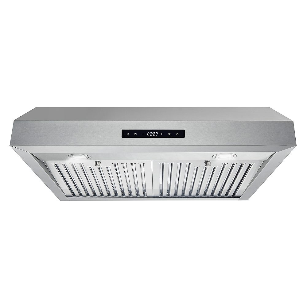 Cosmo 30 in. Ducted Under Cabinet Range Hood in Stainless Steel with Touch Display