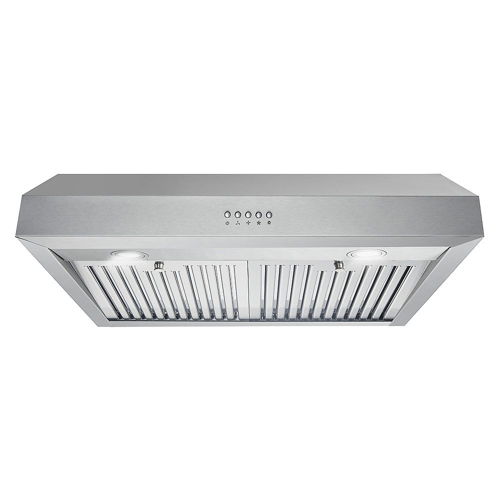 Cosmo 30 in. Ducted Under Cabinet Range Hood in Stainless Steel with LED Lighting and Permanent Filters