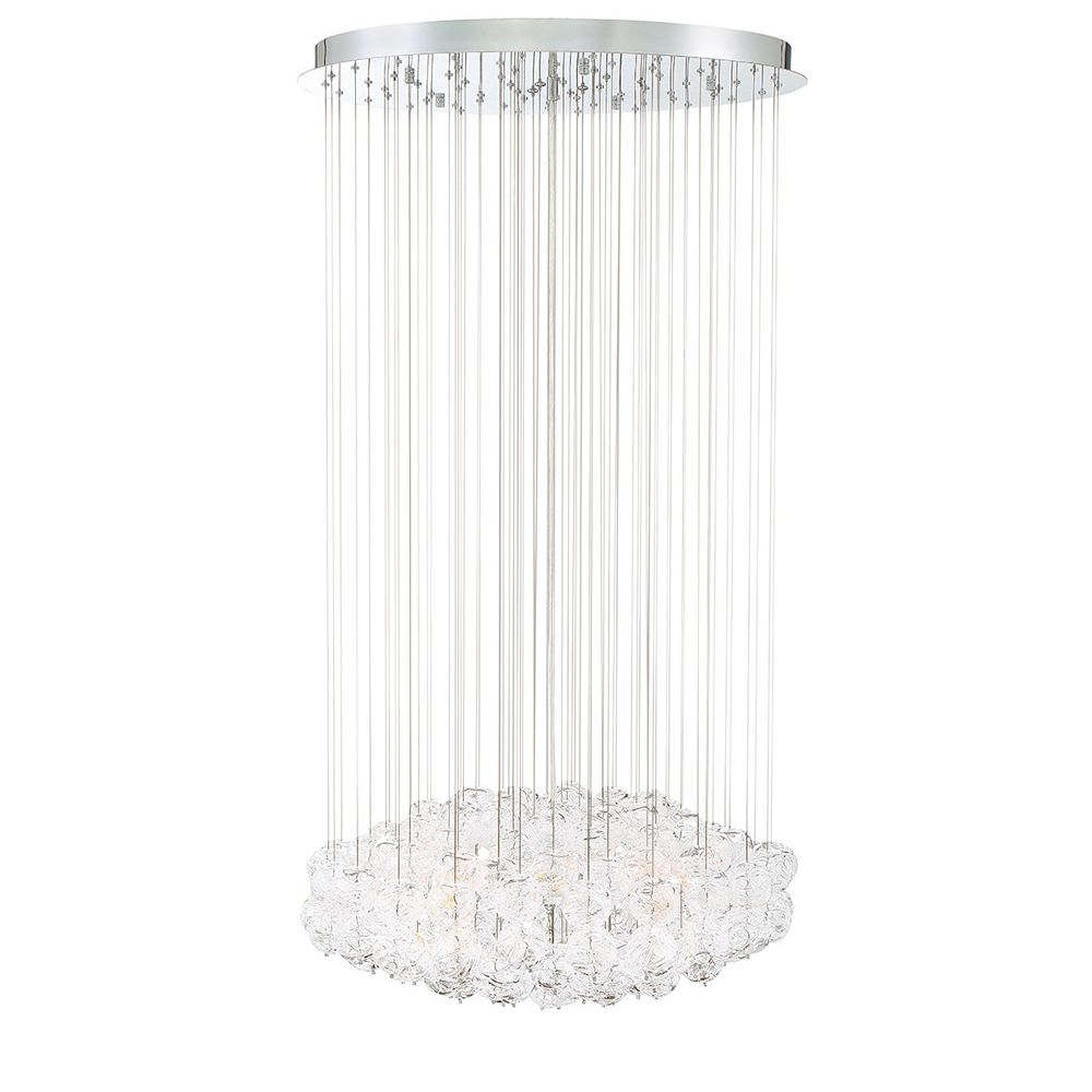 Eurofase Riverdale 8-Light Chrome Chandelier with Clear Shade