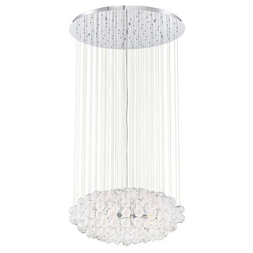Eurofase Riverdale 10-Light Chrome Chandelier with Clear Shade