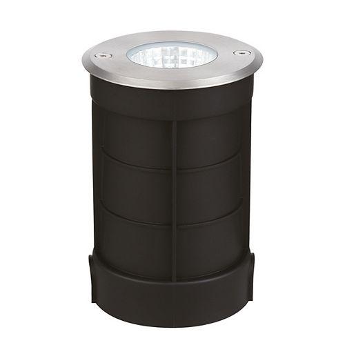 Luminaire encastré en acier inoxydable pour aménagement paysager extérieur à DEL intégrée de 7 watts