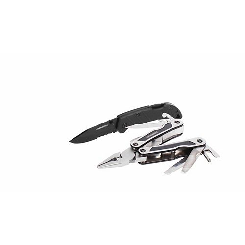 13-In-1 Multi Tool and Folding Sporting Knife Set