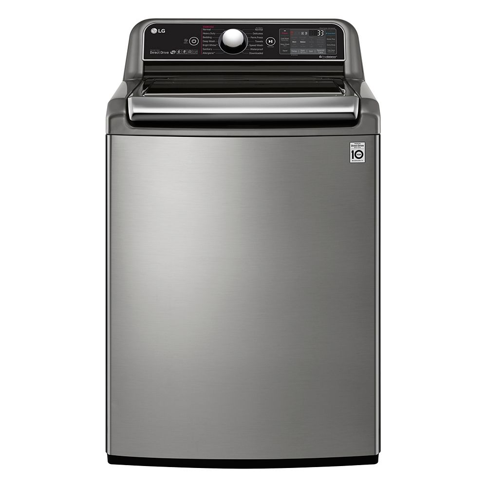 LG Electronics 6.0 cu.ft. Top Load Washer with Ultra Capacity in Stainless Steel - ENERGY STAR®
