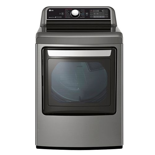 7.3 cu.ft. Smart Electric Dryer with Ultra Large Capacity and Dual-Opening Door in Stainless Steel - ENERGY STAR®