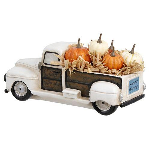 12.5 inch Pumpkin Truck