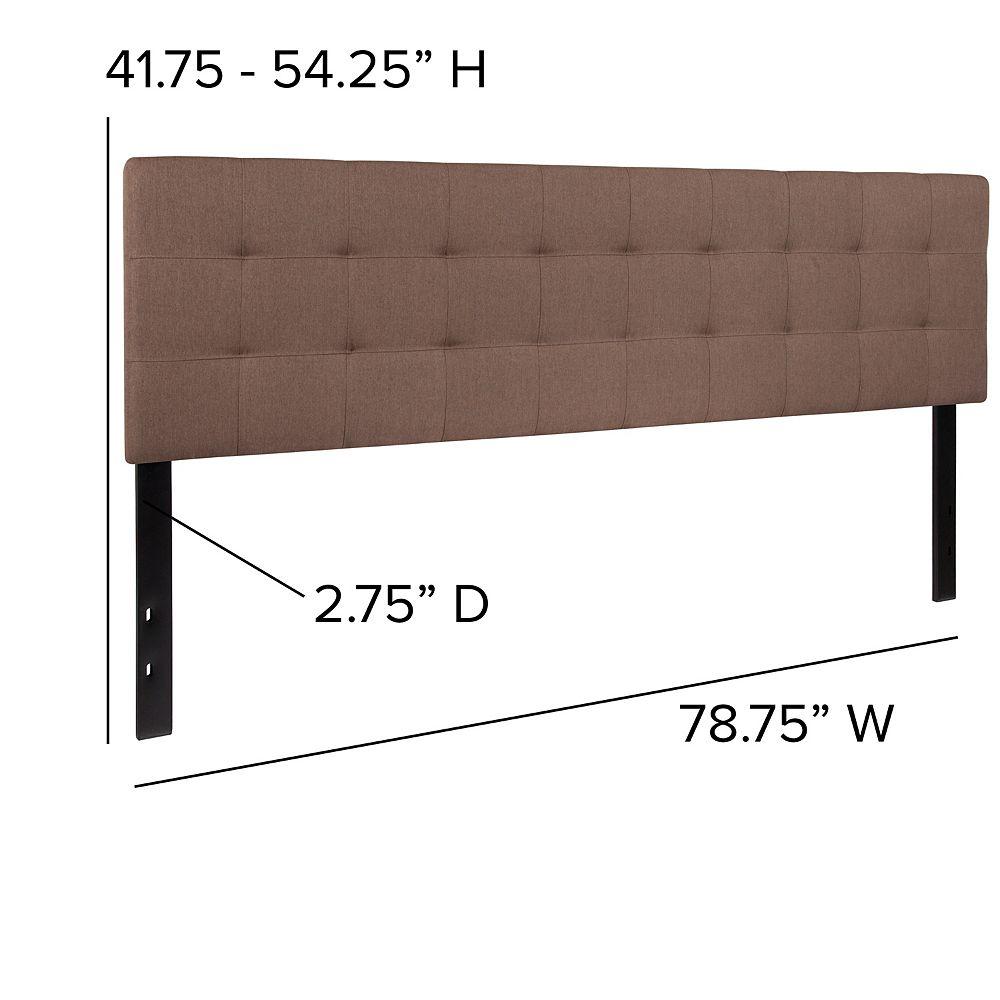 Flash Furniture Tête de lit Bedford très grand touffetée et rembourrée en tissu chameau