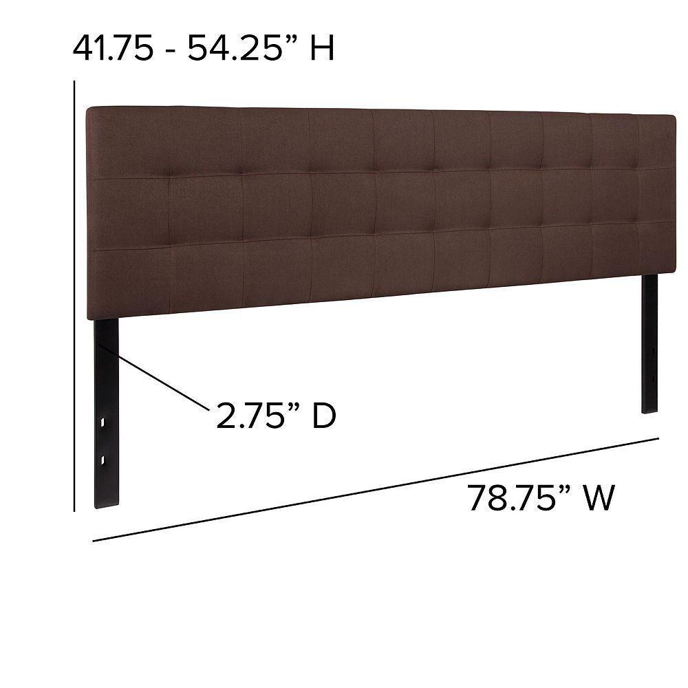 Flash Furniture King Headboard-Brown Fabric