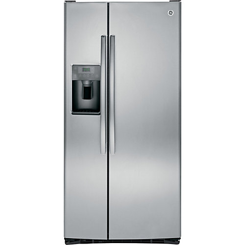 23.2 Cu. ft. Side-by-Side Refrigerator with Dispenser in Stainless Steel