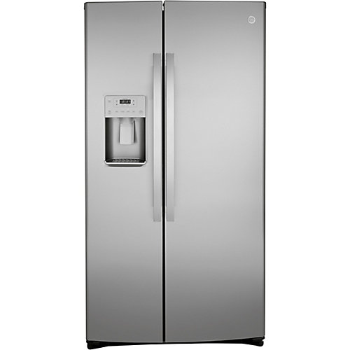 25.1 Cu. ft. Side-by-Side Refrigerator with Dispenser, Fingerprint Resistant in Stainless Steel