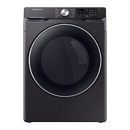 7.5 cu. ft. Electric Dryer with Steam and Wi-Fi in Black Stainless Steel