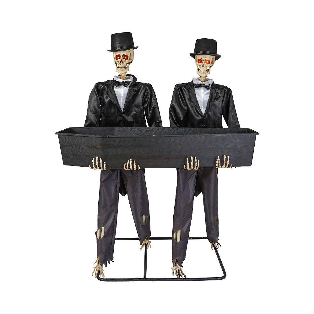 Home Accents Holiday 1,52 m Squelettes à DEL avec porte-gobelet en forme de cercueil