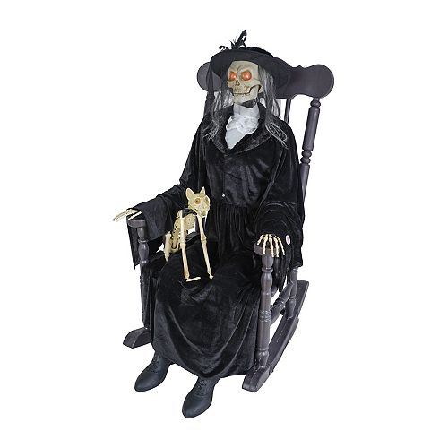 HAL Witch with Cat on Rocking Chair