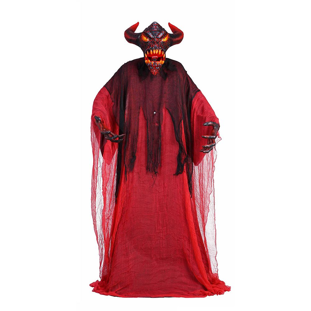 Home Accents 6 5 Ft Animated Led Lit Devil Halloween Decoration The Home Depot Canada