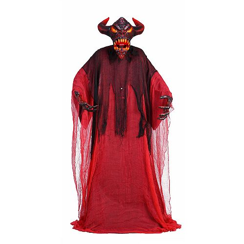 6.5 ft. Animated LED-Lit Devil Halloween Decoration