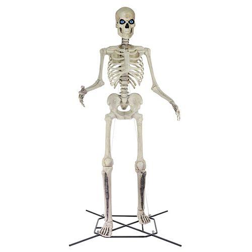 12 ft. Giant-Sized Skeleton Halloween Decoration with LifeEyes LCD Eyes