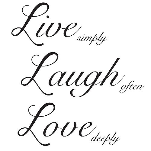 Live Laugh Love Wall Quote
