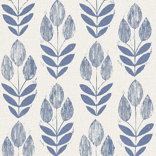 Papier peint scandinave à blocs bleus