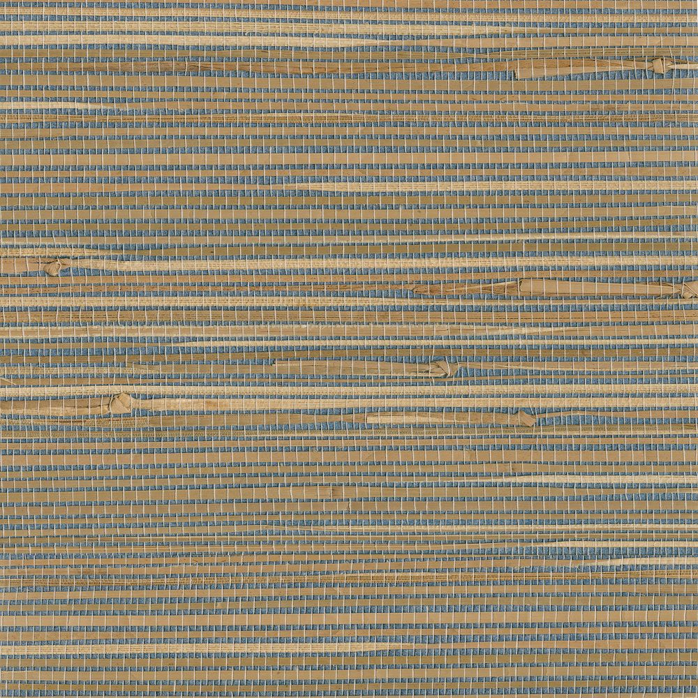 Kenneth James Jissai Mariner Blue Grasscloth Wallpaper The Home Depot Canada
