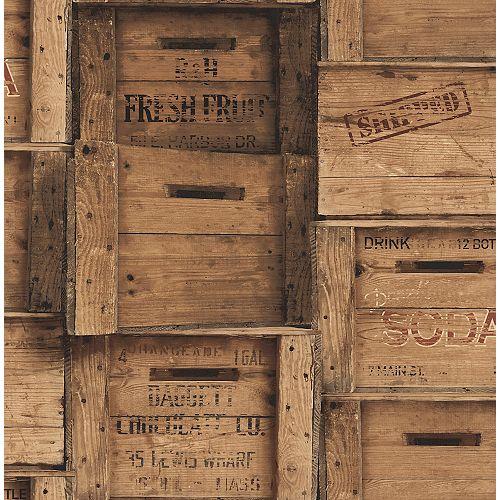 Brown Wood Crates Wallpaper