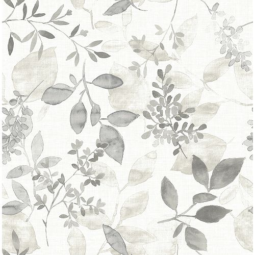 Gossamer Grey Botanical Wallpaper