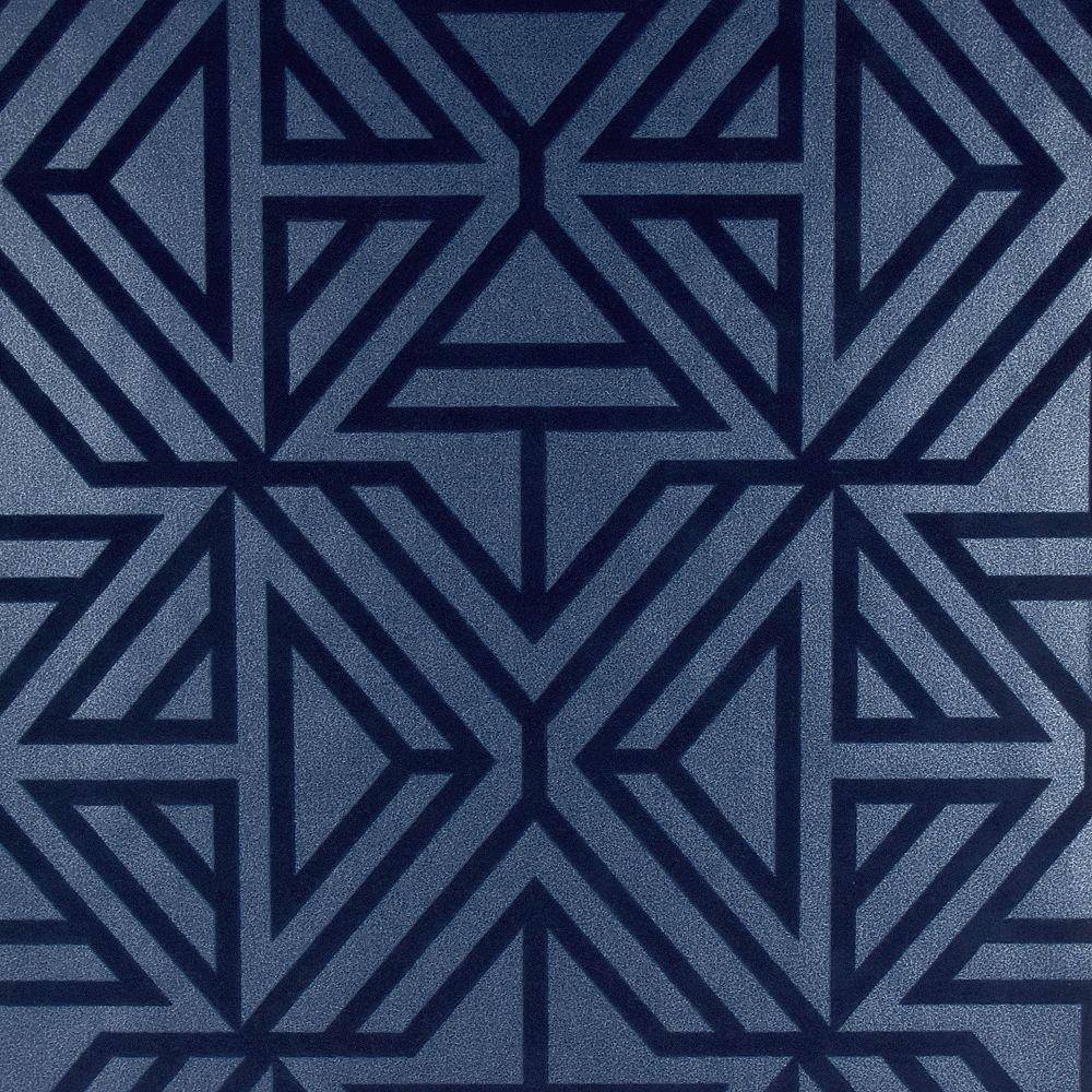 A Street Prints Helios Blue Geometric Wallpaper The Home Depot Canada