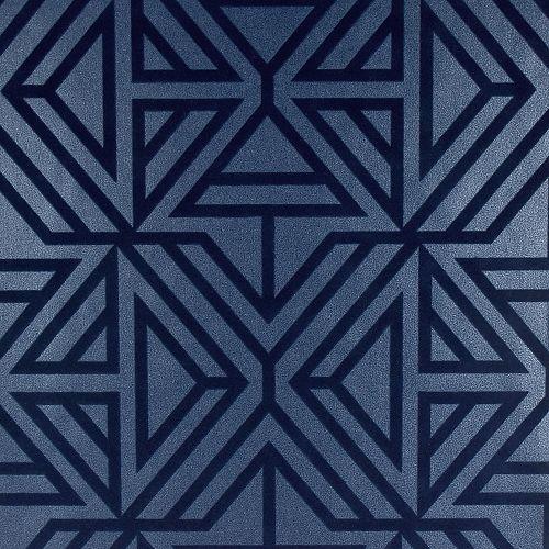 Helios Blue Geometric Wallpaper