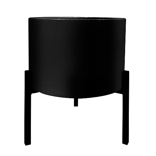 12.6-inch W x 14.6-inch H Black Metal Planter Stand