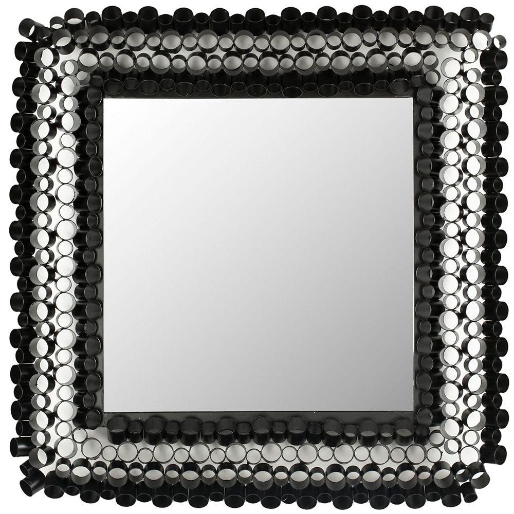 Safavieh Miroir de Tube Carré en Fer et Verre