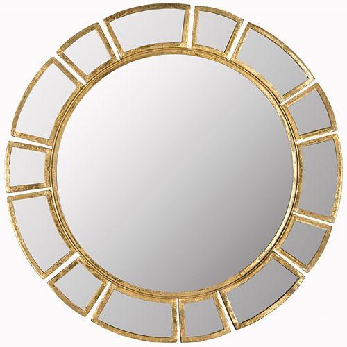 Safavieh Deco Sunburst 30 inch x 30 inch Iron Framed Mirror