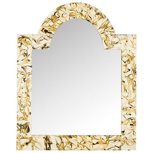 Safavieh Antibes Arched 24 inch x 30 inch Wood and Resin Framed Mirror