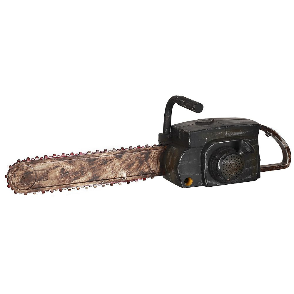 Home Accents Animated Chainsaw Halloween Decoration with Rusty Finish