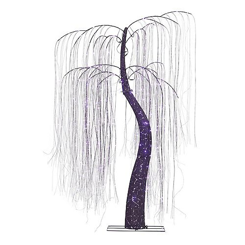 Home Accents 3.5 ft. LED-Light Purple Willow Tree Halloween Decoration