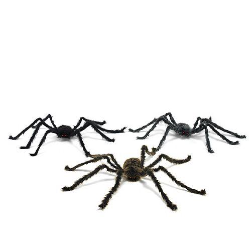 16-inch LED Plush Spider Halloween Decoration