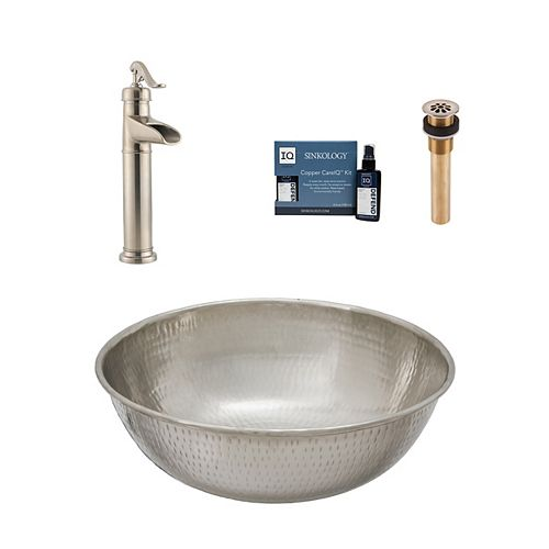 Bohr All-In-One Vessel Nickel Bath Sink Design Kit with Pfister Faucet and Drain